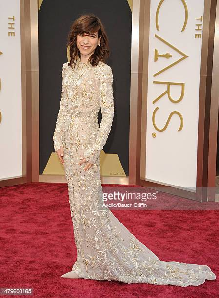 Actress Sally Hawkins arrives at the 86th Annual Academy Awards at Hollywood Highland Center on March 2 2014 in Hollywood California