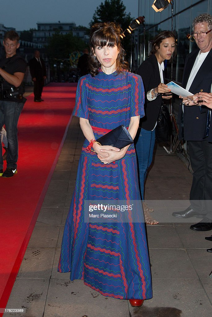 Actress Sally Hawkins attends the 'Blue Jasmine' Paris premiere at UGC Cine Cite Bercy on August 27, 2013 in Paris, France.