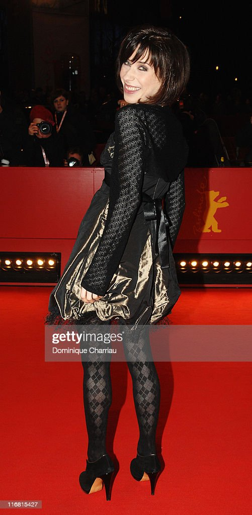 Actress Sally Hawkins attends the 'Happy-Go-Lucky' Premiere as part of the 58th Berlinale Film Festival at the Berlinale Palast on February 12, 2008 in Berlin, Germany.