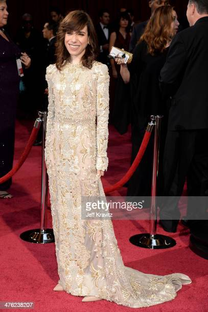 Actress Sally Hawkins attends the Oscars held at Hollywood Highland Center on March 2 2014 in Hollywood California