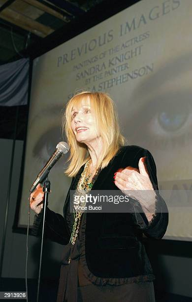 Actress Sally Kellerman attends Previous Images a multimedia exhibition of Sandra Knight by the actress writer and artist at the Edgemar Center for...