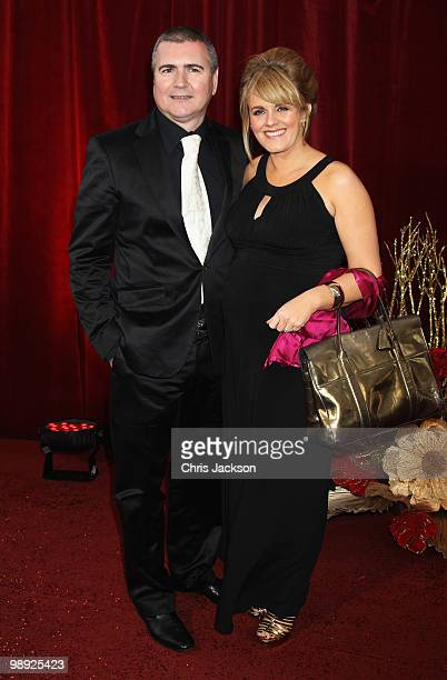 Actress Sally Lindsay and partner Steve White attend the 2010 British Soap Awards held at the London Television Centre on May 8 2010 in London England