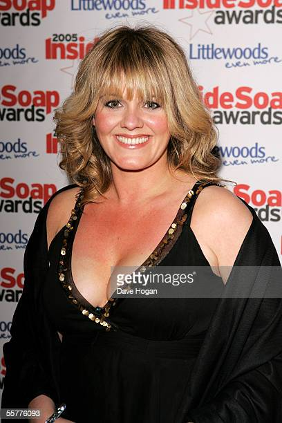 Actress Sally Lindsay attends the Inside Soap Awards 2005 at Floridita Wardour Street on September 26 2005 in London England Categories include Best...