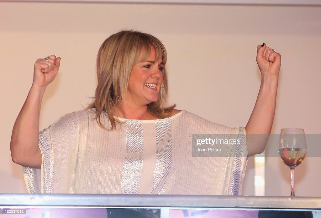 Actress Sally Lindsay attends the Manchester United Foundation Ladies Lunch, raising money for The Christie Charity and Francis House Children's Hospice, at Old Trafford on September 30, 2013 in Manchester, England.