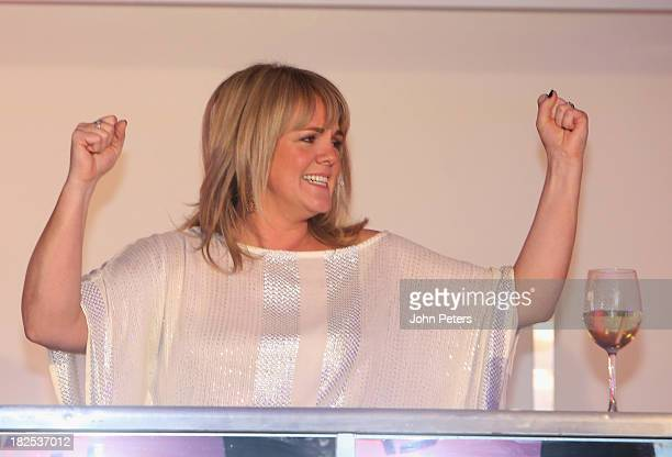 Actress Sally Lindsay attends the Manchester United Foundation Ladies Lunch raising money for The Christie Charity and Francis House Children's...