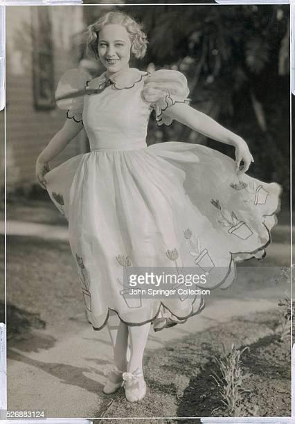 Actress Sally Rand Modeling Dress