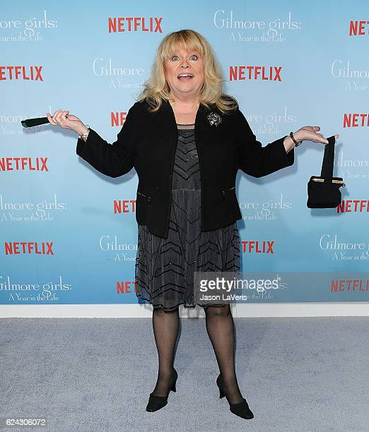 Actress Sally Struthers attends the premiere of Gilmore Girls A Year in the Life at Regency Bruin Theatre on November 18 2016 in Los Angeles...