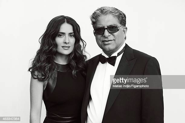 110018003 Actress Salma Hayek and author Deepak Chopra are photographed for Madame Figaro on May 26 2014 in Paris France PUBLISHED IMAGE CREDIT MUST...