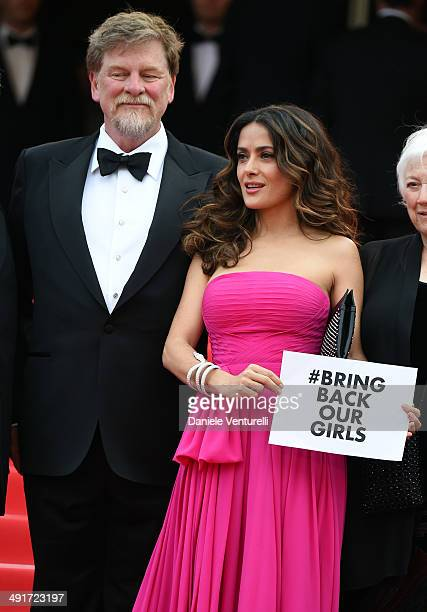 Actress Salma Hayek and director Roger Allers attend 'The Prophet' Premiere at the 67th Annual Cannes Film Festival on May 17 2014 in Cannes France