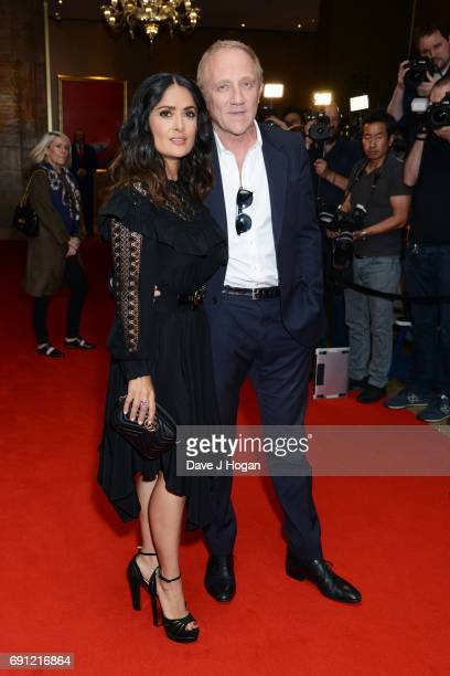 Actress Salma Hayek and FrancoisHenri Pinault attend the 'Beatriz at Dinner' European Premiere Sundance Film Festival at The May Fair Hotel on June 1...