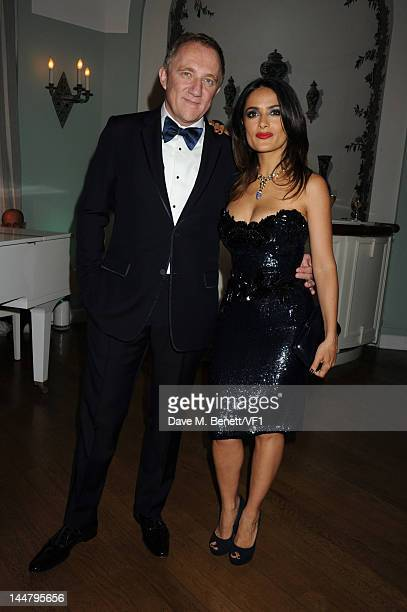 Actress Salma Hayek and FrancoisHenri Pinault attend the Vanity Fair And Gucci Party during the 65th Annual Cannes Film Festival at Hotel Du Cap on...