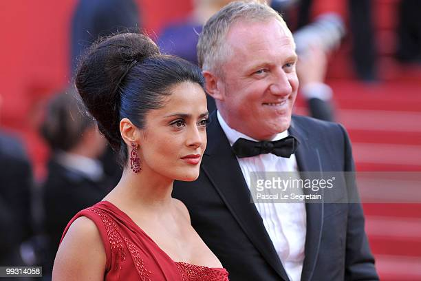 Actress Salma Hayek and FrancoisHenri Pinault attends the 'IL Gattopardo' Premiere at the Palais des Festivals during the 63rd Annual Cannes Film...
