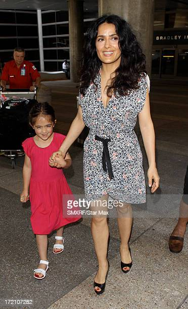 Actress Salma Hayek and her daughter Valentina Paloma Pinault as seen on July 1, 2013 in Los Angeles, California.