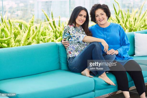 Actress Salma Hayek and her mother Diana Jimenez are photographed for Hola Magazine on April 12 2017 in Los Angeles California