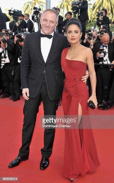 Actress Salma Hayek and husband François-Henri Pinault attend the 'Il Gattopardo' premiere held at the Palais des Festivals during the 63rd Annual...