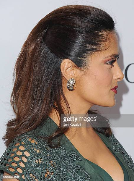 Actress Salma Hayek arrives at Equality Now Presents 'Make Equality Reality' Event at Montage Beverly Hills on November 3 2014 in Beverly Hills...
