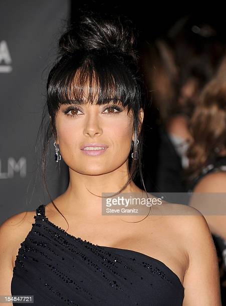 Actress Salma Hayek arrives at LACMA 2012 Art + Film Gala at LACMA on October 27, 2012 in Los Angeles, California.