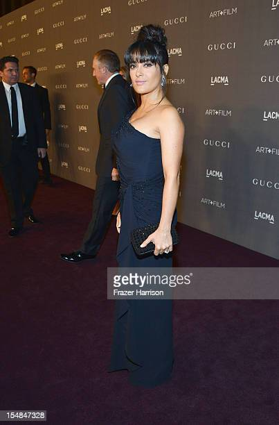 Actress Salma Hayek arrives at LACMA 2012 Art + Film Gala Honoring Ed Ruscha and Stanley Kubrick presented by Gucci at LACMA on October 27, 2012 in...
