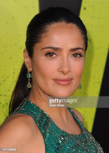 Actress Salma Hayek arrives at Premiere of Universal Pictures' Savages at Westwood Village on June 25 2012 in Los Angeles California