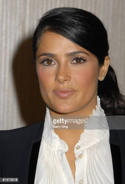Actress Salma Hayek arrives at the 2008 Crystal Lucy Awards 'A Black And White Gala' held at the Beverly Hilton Hotel on June 17 2008 in Beverly...