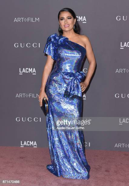 Actress Salma Hayek arrives at the 2017 LACMA Art Film Gala at LACMA on November 4 2017 in Los Angeles California