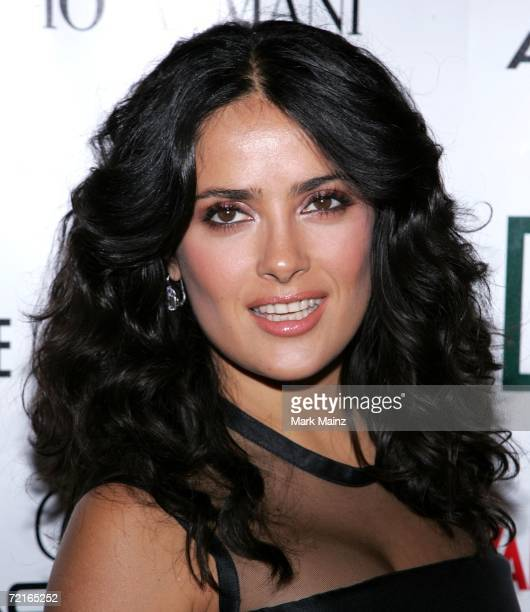 Actress Salma Hayek arrives at the 21st Annual American Cinematheque Award Honoring George Clooney held at The Beverly Hilton Hotel on October 13...