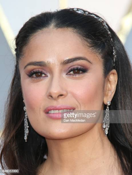 Actress Salma Hayek arrives at the 89th Annual Academy Awards at Hollywood Highland Center on February 26 2017 in Hollywood California