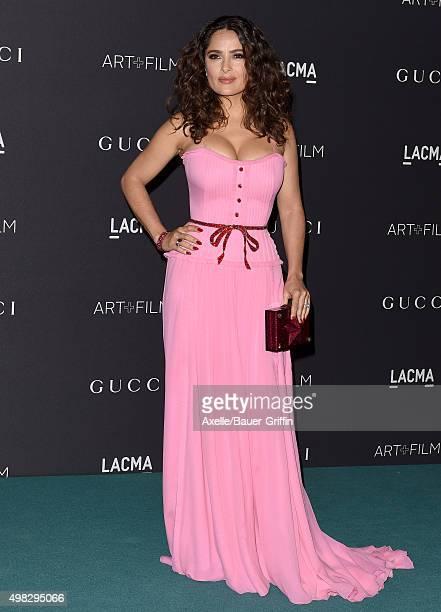 Actress Salma Hayek arrives at the LACMA 2015 ArtFilm Gala Honoring James Turrell And Alejandro G Inarritu Presented By Gucci at LACMA on November 7...