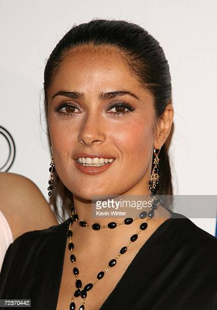 Actress Salma Hayek arrives at the tribute to Penelope Cruz screening of Volver during 2006 AFI FEST presented by Audi held at Arclight Hollywood...