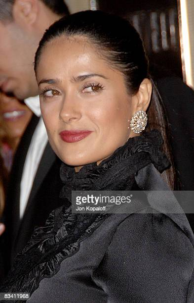 Actress Salma Hayek arrives at the Virgin Unite Rock the Kasbah Gala at the Hollywood Roosevelt Hotel on October 23 2008 in Hollywood California