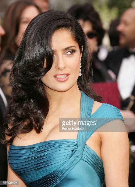 Actress Salma Hayek arrives to the 78th Annual Academy Awards at the Kodak Theatre on March 5 2006 in Hollywood California