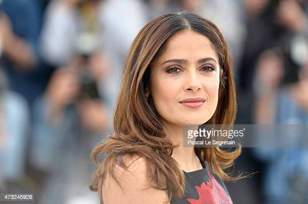 Actress Salma Hayek attends a photocall for Il Racconto Dei Racconti during the 68th annual Cannes Film Festival on May 14 2015 in Cannes France