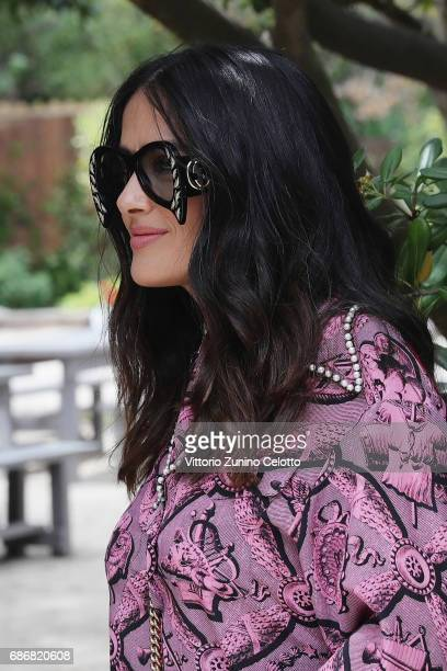 Actress Salma Hayek attends Kering Women in motion Lunch with Madame Figaro on May 22, 2017 in Cannes, France.