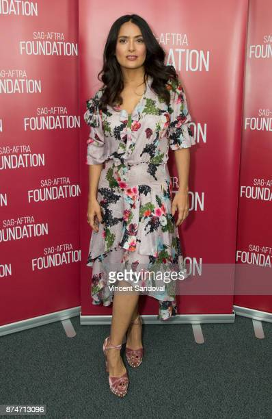 Actress Salma Hayek attends SAGAFTRA Foundation Conversations with Salma Hayek at SAGAFTRA Foundation Screening Room on November 15 2017 in Los...