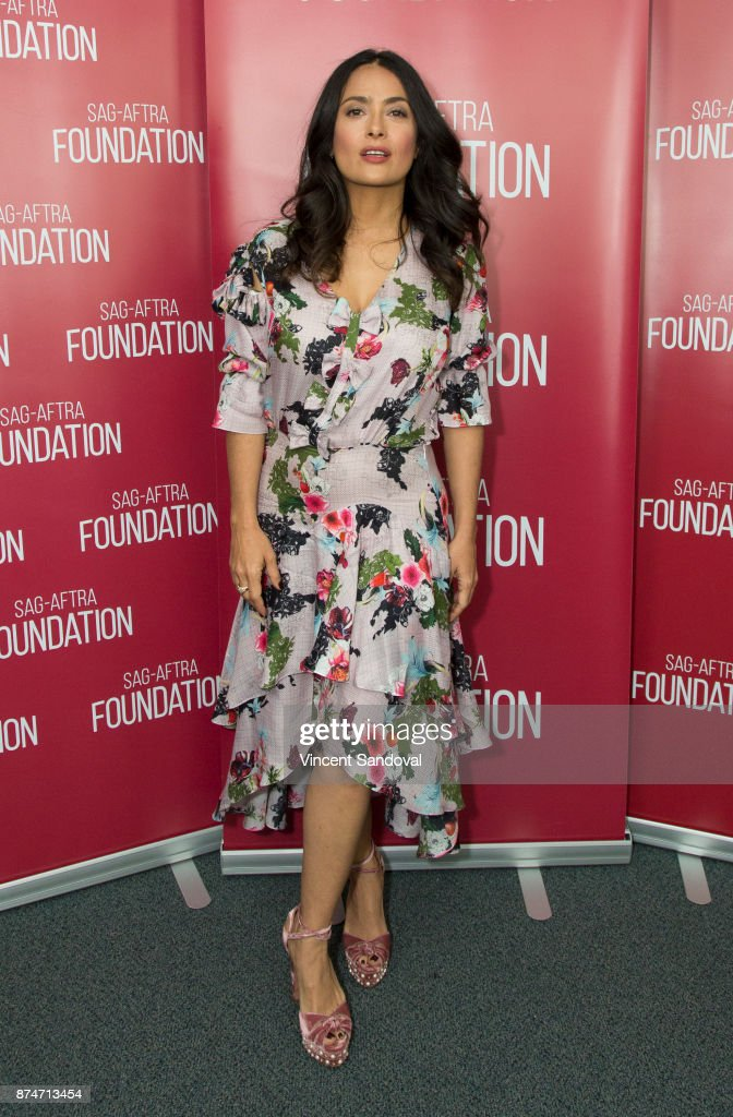 Actress Salma Hayek attends SAG-AFTRA Foundation Conversations with Salma Hayek at SAG-AFTRA Foundation Screening Room on November 15, 2017 in Los Angeles, California.