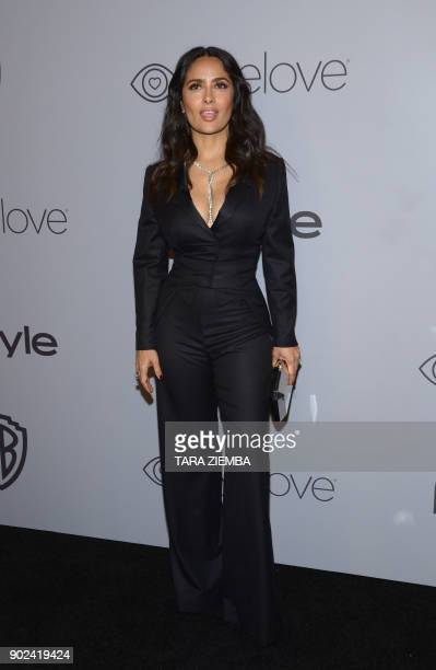 Actress Salma Hayek attends the 19th Annual InStyle And Warner Bros Pictures Golden Globe AfterParty on January 7 in Beverly Hills California / AFP...