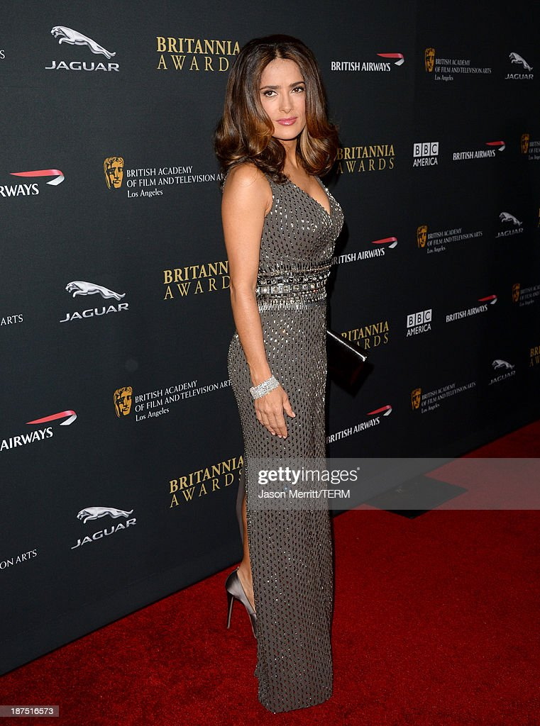 Actress Salma Hayek attends the 2013 BAFTA LA Jaguar Britannia Awards presented by BBC America at The Beverly Hilton Hotel on November 9, 2013 in Beverly Hills, California.