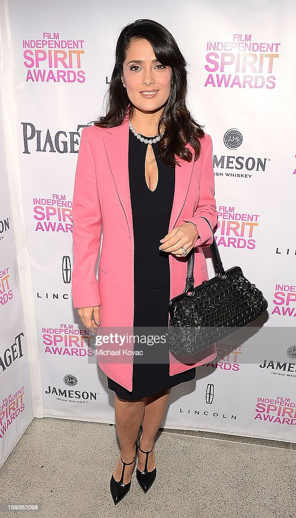 Actress Salma Hayek attends the 2013 Film Independent Filmmaker Grant And Spirit Awards Nominees Brunch at BOA Steakhouse on January 12, 2013 in West Hollywood, California.