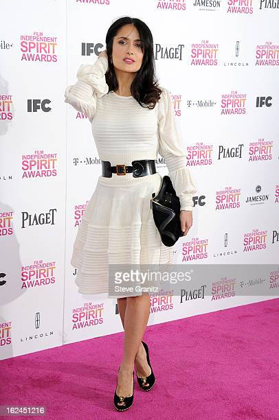 Actress Salma Hayek attends the 2013 Film Independent Spirit Awards at Santa Monica Beach on February 23 2013 in Santa Monica California