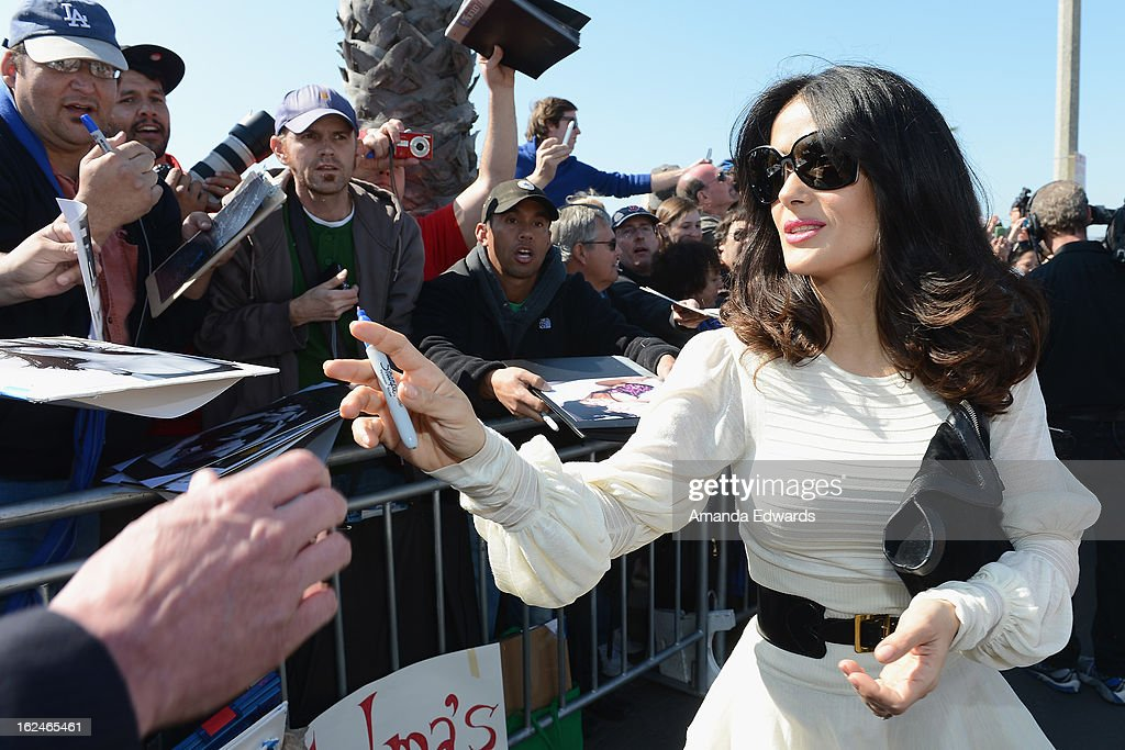 Actress Salma Hayek attends the 2013 Film Independent Spirit Awards at Santa Monica Beach on February 23, 2013 in Santa Monica, California.