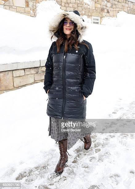 Actress Salma Hayek attends the 2017 Sundance Film Festival on January 24 2017 in Park City Utah