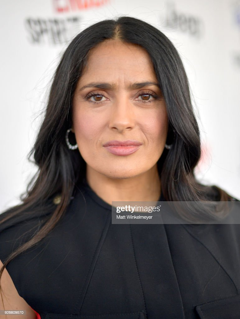 Actress Salma Hayek attends the 2018 Film Independent Spirit Awards on March 3, 2018 in Santa Monica, California.