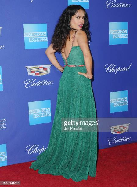 Actress Salma Hayek attends the 29th Annual Palm Springs International Film Festival Awards Gala at Palm Springs Convention Center on January 2 2018...