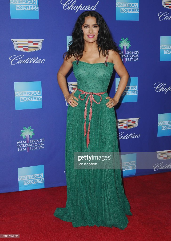 Actress Salma Hayek attends the 29th Annual Palm Springs International Film Festival Awards Gala at Palm Springs Convention Center on January 2, 2018 in Palm Springs, California.