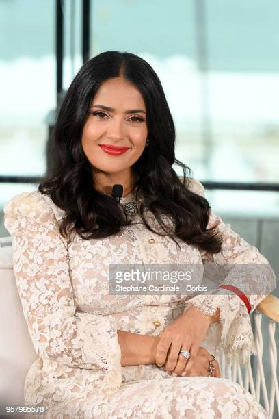 Actress Salma Hayek attends the 71st annual Cannes Film Festival at Majestic Hotel on May 13 2018 in Cannes France