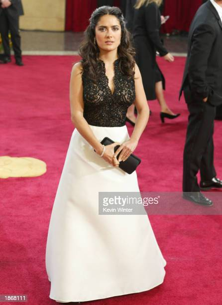 Actress Salma Hayek attends the 75th Annual Academy Awards at the Kodak Theater on March 23 2003 in Hollywood California