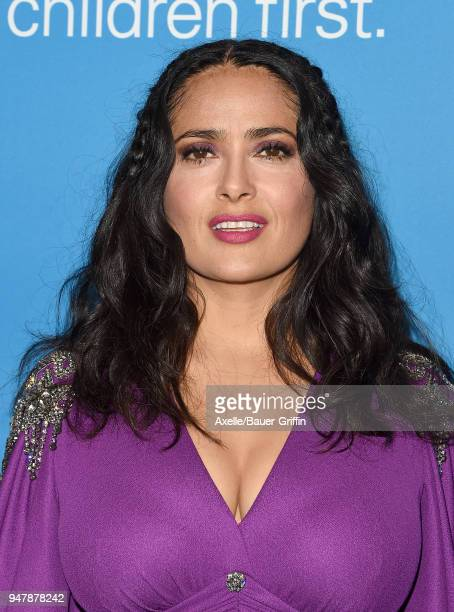 Actress Salma Hayek attends the 7th Biennial UNICEF Ball at the Beverly Wilshire Four Seasons Hotel on April 14 2018 in Beverly Hills California