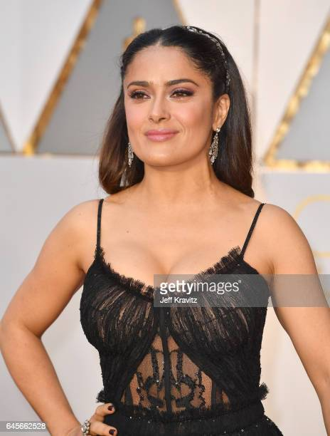 Actress Salma Hayek attends the 89th Annual Academy Awards at Hollywood Highland Center on February 26 2017 in Hollywood California