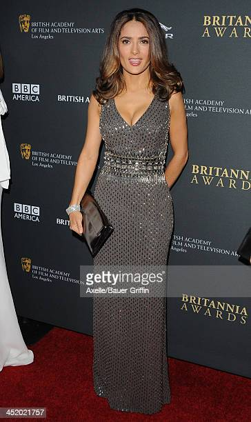 Actress Salma Hayek attends the BAFTA Los Angeles Britannia Awards at The Beverly Hilton Hotel on November 9, 2013 in Beverly Hills, California.