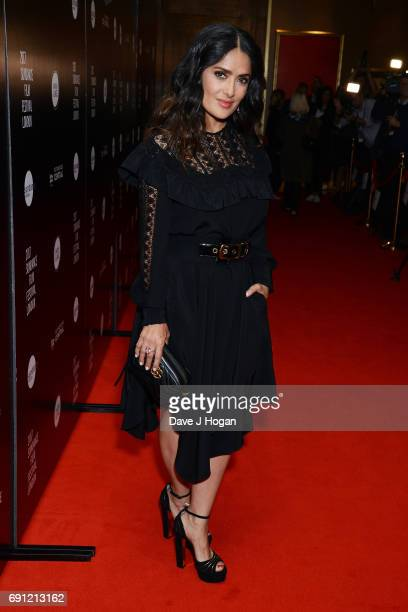 Actress Salma Hayek attends the 'Beatriz at Dinner' European Premiere Sundance Film Festival at The May Fair Hotel on June 1 2017 in London England